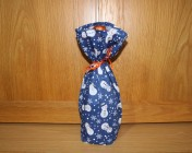 Bottle Bag – Blue Snowman Fabric