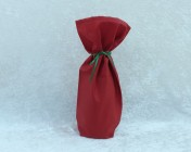 Bottle Bag – Cherry Red Fabric