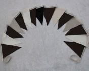 Bunting 3m 15 Flag Mocha Bunting Chocolate, Cream, Black Fabric BUNTING