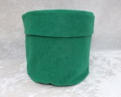 Fabric Basket – Green Faux Suede
