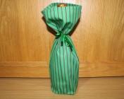 Bottle Bag – Green Stripe Fabric