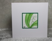 Greetings card Unique Hand Painted Lily of the Valley