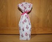 Bottle Bag – Pink Penguin Fabric