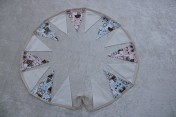 Bunting 2m Cream with Pink and Blue Baby Fabric Bunting