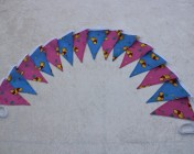 Bunting 3m 15 Flag Pink and Blue Winnie the Pooh Fabric BUNTING