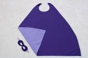 Superhero Cape & Mask Older Childs Purple/Mauve