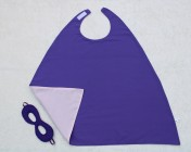 Superhero Cape & Mask Younger Childs Purple/Pink