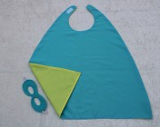Superhero Cape & Mask Younger Childs Turquoise/Yellow