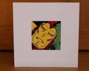 Greetings Card – Iron Man Fabric
