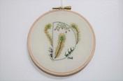 Personalised Embroidery Hoop Wall Art Embroidery Hoop Letter Art Wooden Hoop