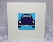 Greetings Card – Beetle Car Fabric