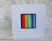 Greetings card Unique Hand Painted Rainbow