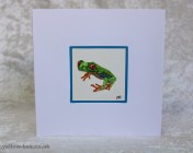 Greetings card Unique Hand Painted Tree Frog