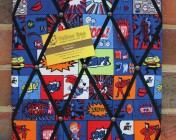 Memo Board, Blue Cartoon Superhero