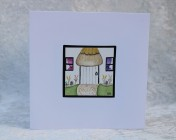 Greetings card Unique Hand Painted Cottage Porch