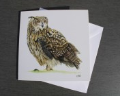 Greetings cards Notelets 5 Printed from an original watercolour EAGLE OWL