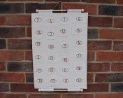 Advent Calendar, Hand Embroidered Numbers