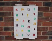 Advent Calendar, Handcrafted with Needle felted numbers