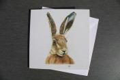 Greetings card Notelet Printed from an original watercolour HARE