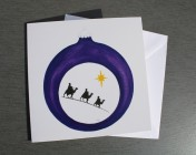Greetings card Notelet Printed from an original watercolour Kings Bauble