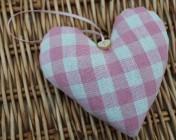 Lavender Heart – Laura Ashley Pink Gingham