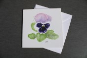 Greetings card Notelet Printed from an original watercolour PANSY
