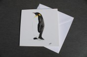 Greetings cards Notelets 5 Printed from an original watercolour PENGUIN