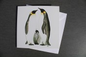Greetings card Notelet Printed from an original watercolour PENGUINS