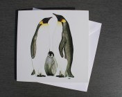 Greetings cards Notelets 5 Printed from an original watercolour PENGUINS
