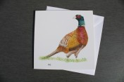 Greetings card Notelet Printed from an original watercolour PHEASANT