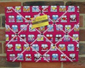 Memo Board, Pink Camper Van (Landscape)
