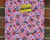 Memo Board, Pink Monkey Fabric
