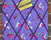 Memo Board, Purple Unicorns