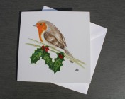 Greetings cards Notelets 5 Printed from an original watercolour ROBIN