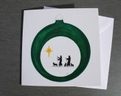 Greetings card Notelet Printed from an original watercolour Shepherds Bauble