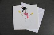 Greetings card Notelet Printed from an original watercolour SNOWMAN