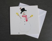 Greetings cards Notelets 5 Printed from an original watercolour SNOWMAN