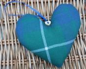 Lavender Heart – Hamilton Green Tartan