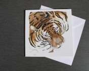 Greetings cards Notelets 5 Printed from an original watercolour TIGER